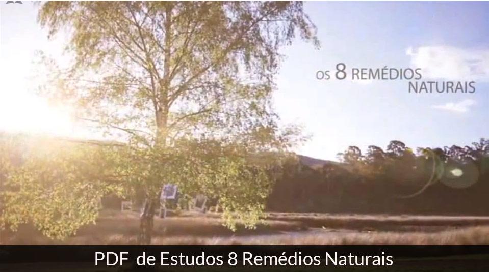 PDF – Estudos dos 8 Remédios Naturais
