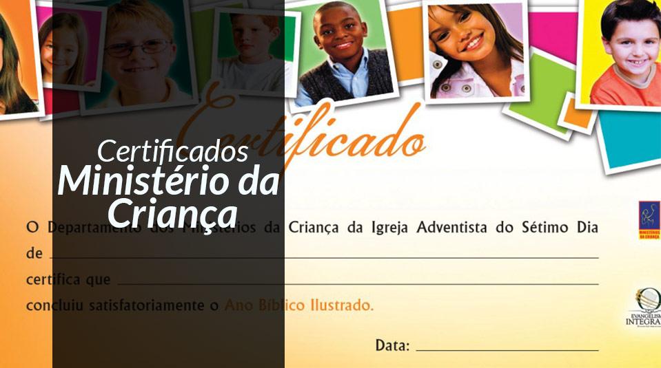 Certificados Ministério Infantil