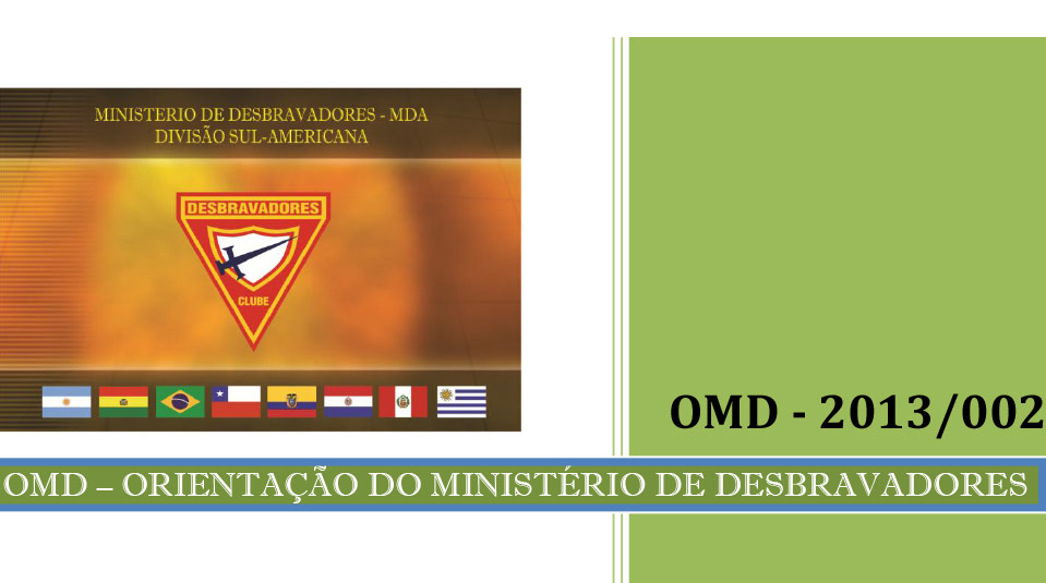 Cartão de Liderança – Orientação do Ministério de Desbravadores