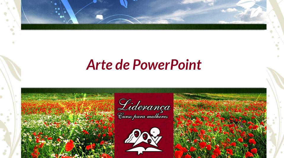 Arte de PowerPoint – Curso de Liderança para Mulheres nível IV