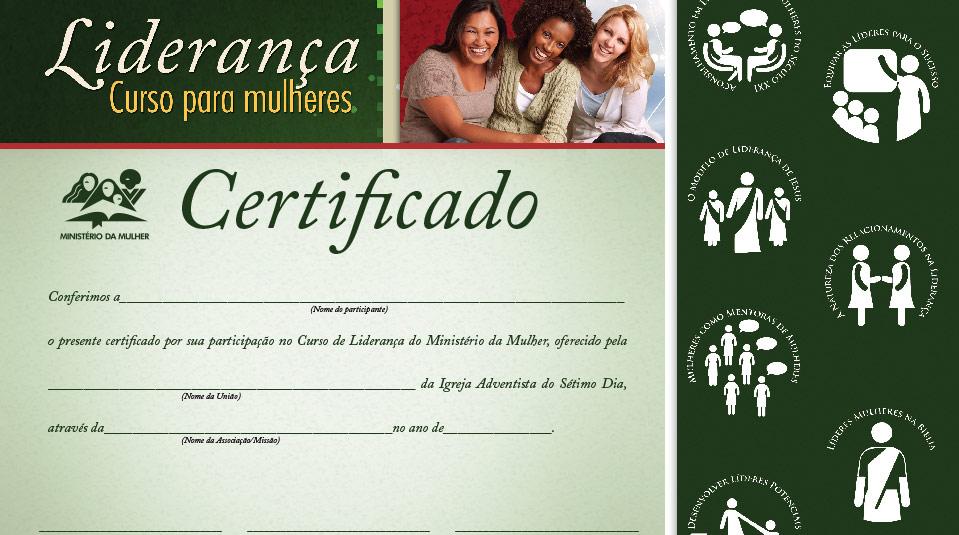 Certificado: Curso de Liderança para Mulheres nível IV – Ministério da Mulher