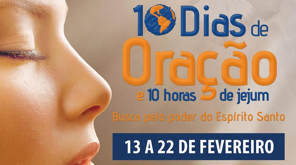 Banner: 10 Dias de oração e 10 horas de jejum 2014