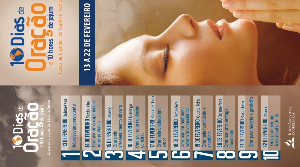 Marca página: 10 dias de oração e 10 horas de jejum 2014