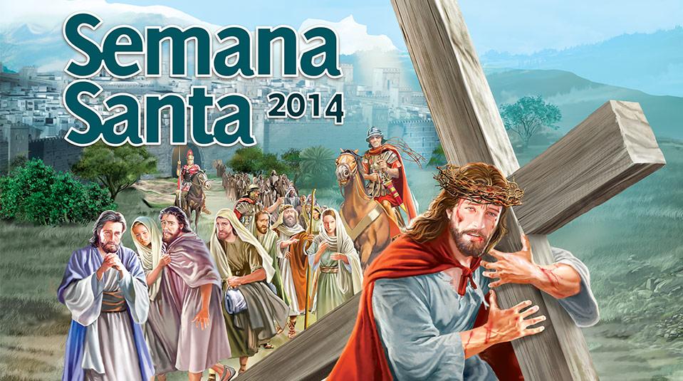 Arte aberta do Cartaz: Nos Passos de Jesus – Semana Santa 2014