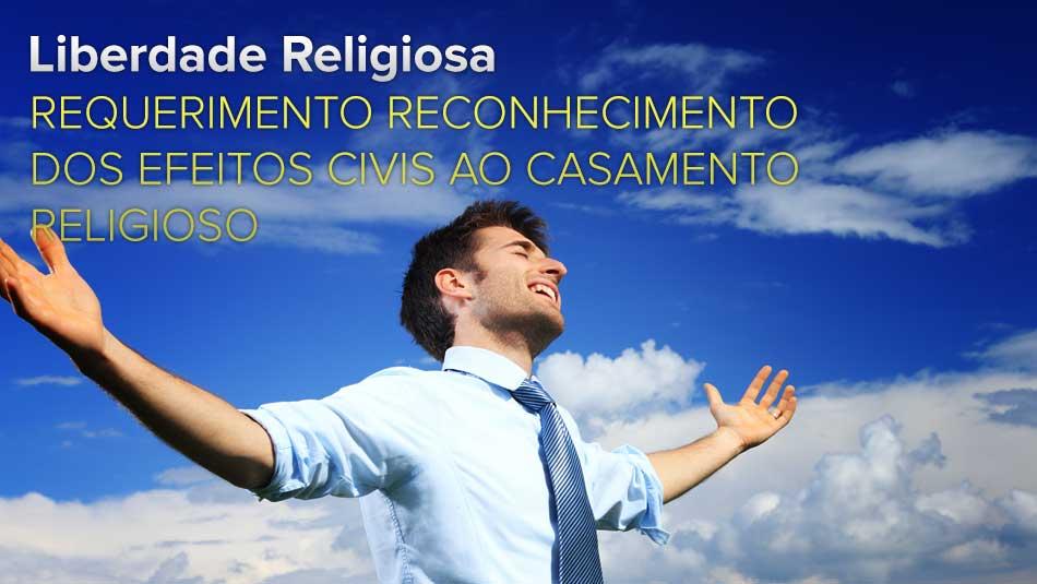 Requerimento Reconhecimento dos efeitos civis ao casamento religioso