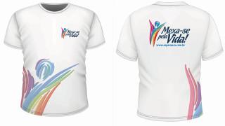 Arte camiseta: Mexa-se pela Vida