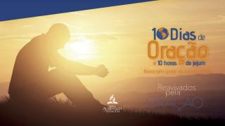 Arte para Powerpoint: 10 Dias de oração e 10 horas de jejum 2015