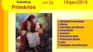 Primários: Auxílio na Escola Sabatina – 10 janeiro 2015