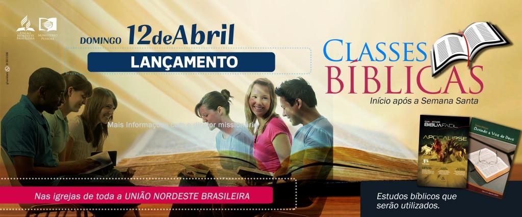 Lançamento de Classes Bíblicas – Banner 1