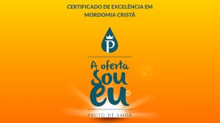 Cartão de Certificado de Excelência em Mordomia Cristã