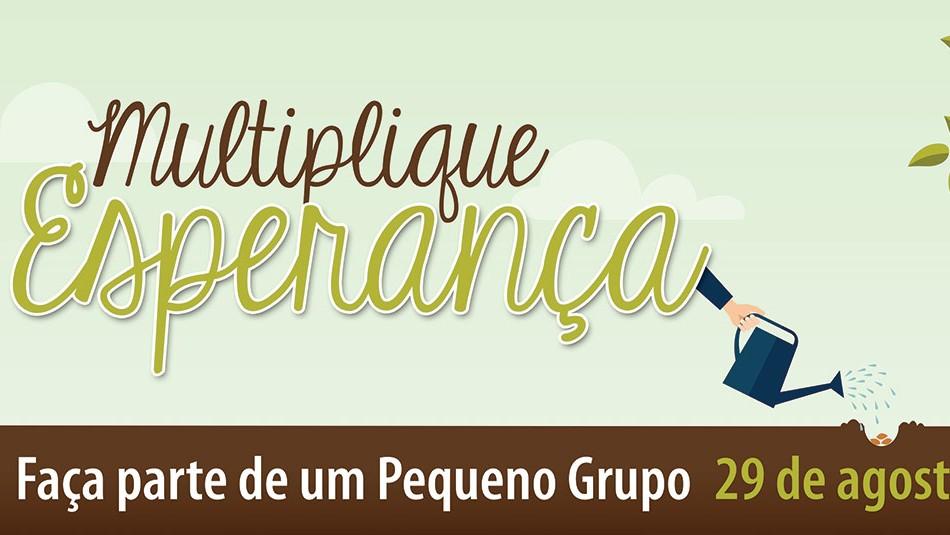 banner multiplicando pequenos grupos