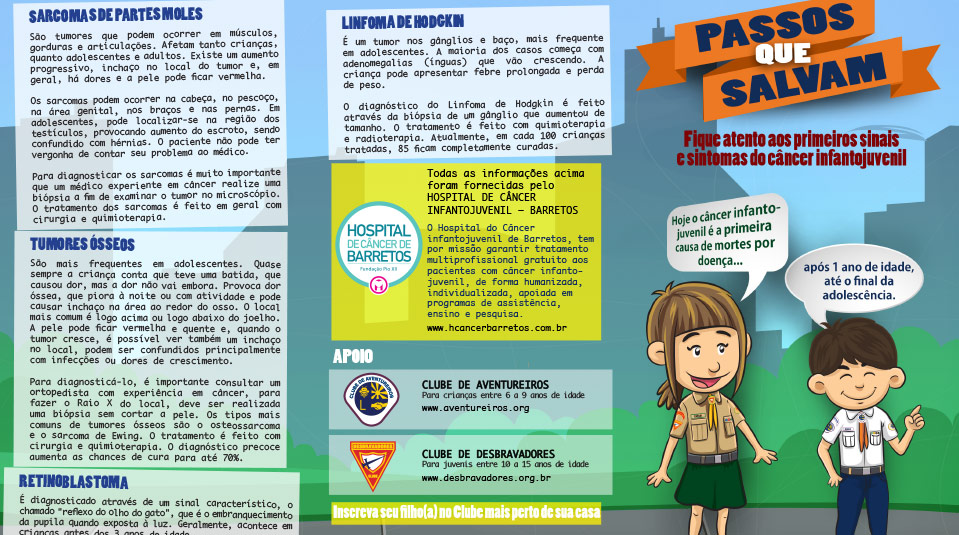 Folder: Passos que salvam – Câncer Infantil