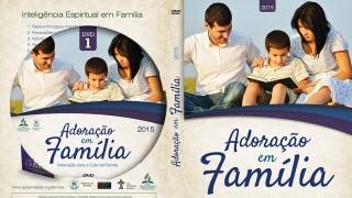 Capa de DVD e label: Adoracão em família 2015