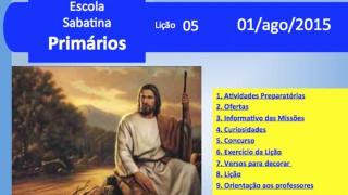 Primários: 01 agosto 2015 – Auxílio na Escola Sabatina