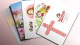 Cartões para imprimir – Batismo da primavera