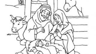 Desenho para colorir – Mutirão de Natal 2015
