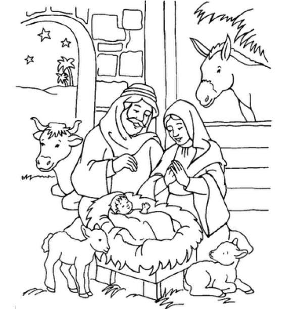 Desenho Para Colorir Mutirao De Natal 2015 Downloads De