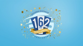 Logo oficial  162 Anos fazendo Dicípulos