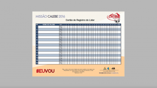 Registro do Líder – Missão Calebe – 2016 – AML