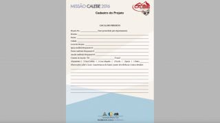 Cadastro do Projeto – Missão Calebe – 2016 – AML