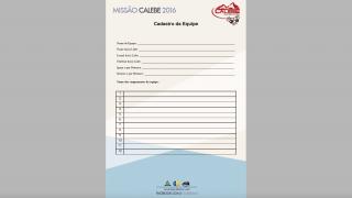 Cadastro da Equipe – Missão Calebe – 2016 – AML