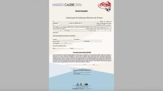 Autorização para menor – Missão Calebe – 2016 – AML