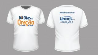 Camiseta: 10 Dias de oração e 10 horas de jejum 2016