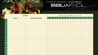 Cartão de Chamada  – Classe Bíblica Apocalipse