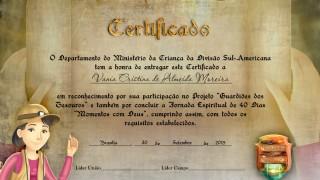 Certificado – Guardiões dos Tesouros