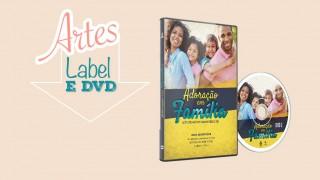 Capa de DVD e label: Adoracão em família 2016