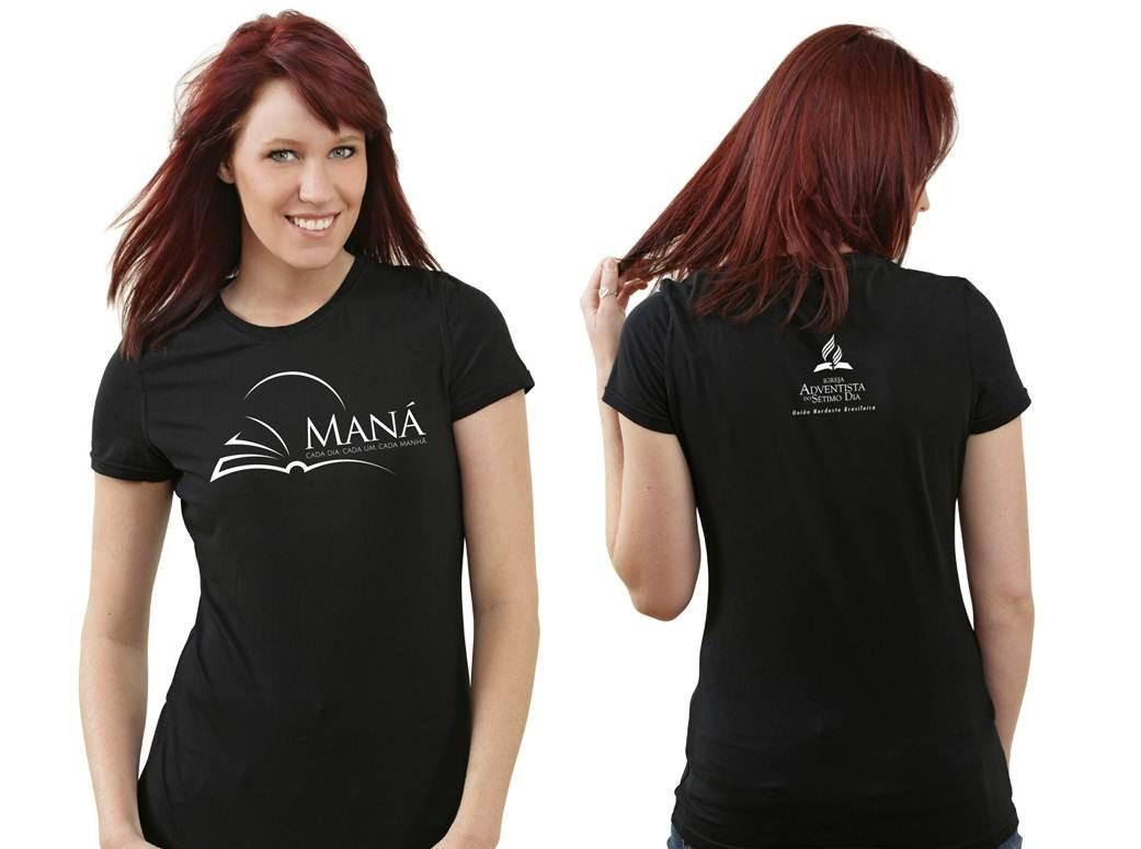 Modelo de Camisa Projeto Maná  – Preta