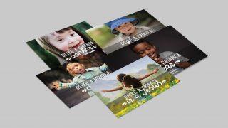 Cartões: Deixe a criança ir a Jesus