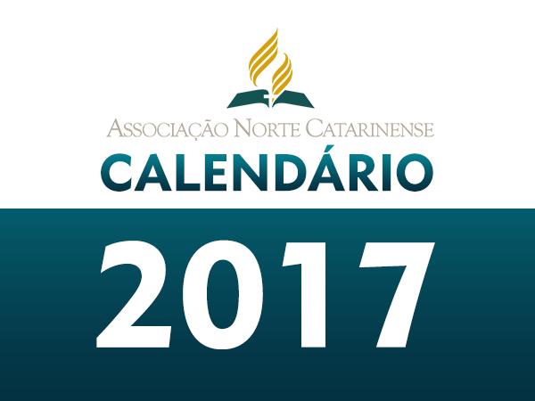 Calendário de atividades para 2017 ANC