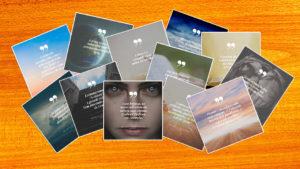 Cartões do livro: Em Busca de Esperança