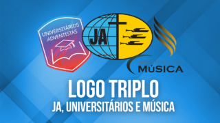 Logo triplo – JA, Universitários e Música