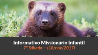(Sáb 18/nov/2017) – Informativo Missionário Infantil