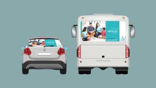 Adesivo carro e ônibus: 10 Dias de Oração 2018