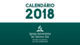 Calendário de atividades MOSR 2018