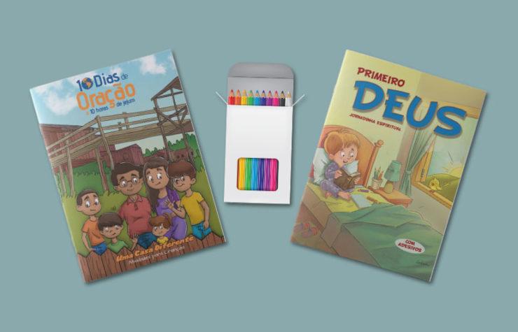 Revistas Infantis: 10 Dias de Oração e Jornadinha Primeiro Deus 2018