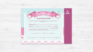 Certificado de Bebê Menina – Ministério da Família
