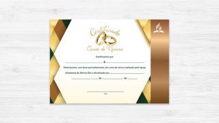 Certificado de Noivos – Ministério da Família