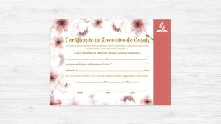 Certificado de Encontro de Casais – Ministério da Família