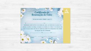 Certificado de Renovação de Votos – Ministério da Família