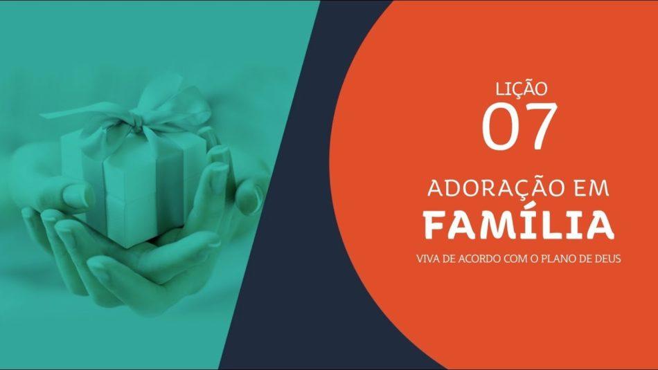 adoração em familia