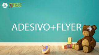Adesivo e Flyer | Quebrando o Silêncio 2019