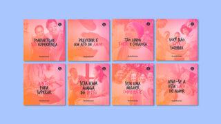 Cartões (modelos 1): Outubro Rosa
