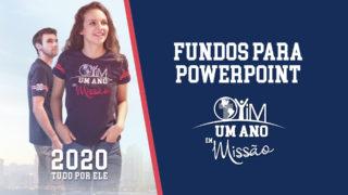 Fundo para Powerpoint – Um Ano em Missão 2020