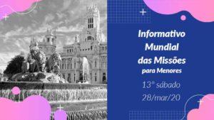 Informativo PPT: 13º Sábado 1Trim20