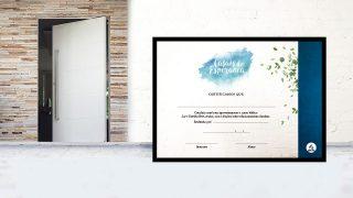 Certificado | Casais de Esperança