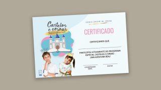 Certificado | Escola Cristã de Férias 2021